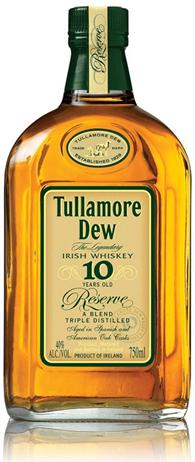 Tullamore Dew Irish Whiskey 10 Year Old Reserve